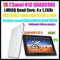 4.8 inch Quad Core Android 4.0 discount shipping SANEI N10 Quad Core i.MX6Q 4.8GHz Android 4.0 16GB 1G RAM IPS 1280x800 bluetooth dual camera Tablet PC