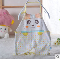 Cotton Blue Cartoon Baby products Rice pocket Infant supplies Neck circumference bib Baby chinese-style chest covering