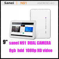 4.8 inch Android 4.0 2GB discount shipping Sanei N91 9 inch Android 4.0 1.2Ghz 512mb ram 8GB 2.0mp Dual Cameras Tablet PC