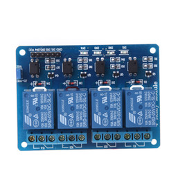 Wholesale 4 Channel V Active Low Relay Module Board for Arduino PIC AVR MCU DSP ARM Freeshipping H9466