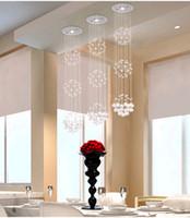 Wholesale Modern crystal chandeliers led crystal ceiling lights Crystal Pendant Lamp living room lights dining room crystal chandelier and pendants