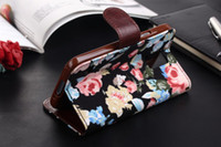 Flower Jean Wallet Leather Credit Card with Soft tpu Case Co...
