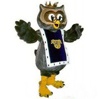 Wholesale Factory direct sale Grey Owl Mascot Costume Fancy Dress adult one size suit