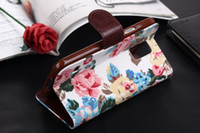 Flower Jean Wallet Leather Credit Card with Soft tpu Cover C...
