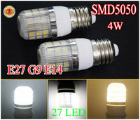 4W LED Corn Light Bulb 27leds led lamp with E27 E14 G9 SMD 5...