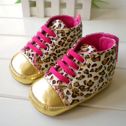Wholesale Leopard style Baby prewalker First Walkers Gym Shoes cack Pre Walk Toddler Infant s Footwear