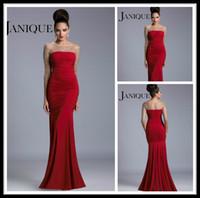 achat en gros de robes de mariée manches rouges-Robe de mariée en mousseline de soie rouge à manches longues