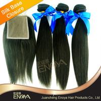 Cheap Brazilian Hair hair closures Best Natural Color Straight brazilian hair with closu