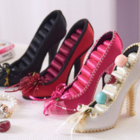 Ring craft shoes - Ring Shoe Holder Have color choose quot High heel folowe lace Organizer Resin Crafts Gift cheap Fashion Jewelry Stand