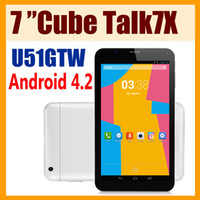 Wholesale Cube U51GTW quot Capacitive IPS Touch Android MTK8312 Dual core GHz G Phablet Tablet PC GPS Bluetooth WiFi Auto focus