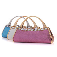 Wholesale BSPS Women s Lady Elegant Fashion Bag Clutch Buckle Pleated Bling Bling Wedding Evening Party Hand Bags Clutches