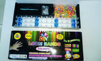 Multicolor tie dye kit - Tie Dye Rubber Bands Rainbow Loom hand knitted bracelet diy tool kit Handmade knitted Twistz Bandz charms silicone wrist bands promot