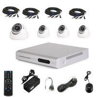 Wholesale home surveillance indoor system cctv Kit TVL DIS ch DVR DIY dvr kit Day Night vision cftv Camera CCTV system