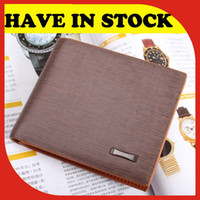 Wholesale popular fashion brand name leather man purse designer promotion billfold wallet for men