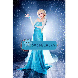 Wholesale 2014 Elsa Dress Frozen For yrs Girl s Princess dress Kids summer dress girl s lovable New Girls dress Pre sale