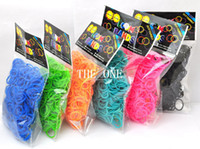 Wholesale 500 packs rubber wrist bands rainbow bracelet diy elastic rubber bands Loom Bands with S Clips without Retail Box Packing dhl free promot