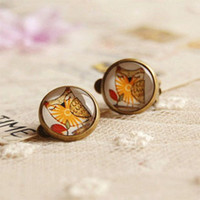 Clip-on & Screw Back american forest - Forest Owl Earrings Without Puncture Ethnic Earrings for Girls Christmas Jewelry rj20