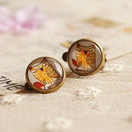 Forest Owl Earrings Without Puncture Ethnic Earrings for Girls Christmas Jewelry rj20
