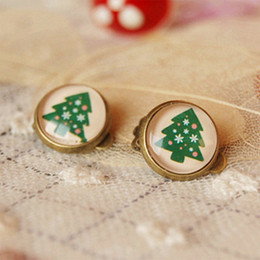 Novelty Christmas Tree Clip Earrings Without Piercing Best Christmas Jewelry for Children rj24