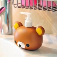 Wholesale Ease the bear cartoon plastic shower gel bottle emulsion apllying bottle sub bottling hand sanitizer bottle