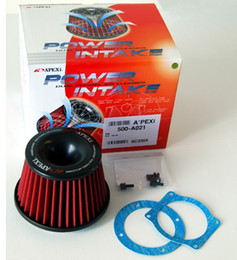 Wholesale 10SETSt NEW Apexi Air Filter Power Intake Kit Universal Adapt Neck mm High Quality red colour