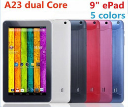 Wholesale 9inch a23 tablet pc inch Allwinner A23 dual core Dual camera Tablet PC Allwinner GB or MB RAM GB ROM Touch Screen Tablet PC