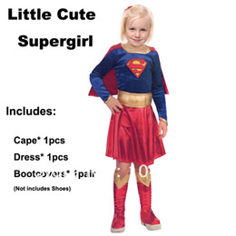 Wholesale 2014 New child supergirl Sexy girl super hero costume cosplay party for super girl costume dress JCJP0003