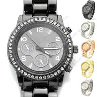 Wholesale 2014 new fashion Metal Boyfriend Designer Crystals Watches men Wristwatch Colors