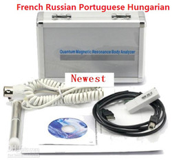 Wholesale DHL FREE HOT SALE Newest Quantum Resonance Magnetic Analyzer reports in French Russian Portuguese Hungarian Big Promotion