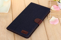 3 color Denim jean Wallet Leather Stand with credit Card Mon...