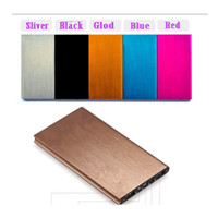 Latest Brushed aluminum thin 20000mah Power bank External ch...