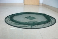 Wholesale Durable Nylon Fish Shrimp Crab tiddler Trap Cast Collapsible nets cm drop net Plastic coated steel wire