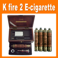 Wholesale K Fire Wood E cig Vision Spinner Battery Variable Voltage Metal bottom Battery Mod K Fire Ecig Kit with Protank3 UPS free