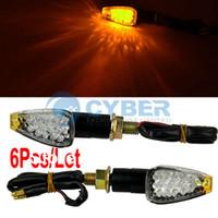 Wholesale 6Pcs LED Motorbike Motorcycle Motor Corner Turn Signals Light Lamp Bulb Indicator Amber Yellow TK0125