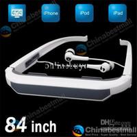 Wholesale A080 inch Virtual Screen Resolution Eyewear iWear2 Dynamic Video Glasses for iPod iPhone ipad