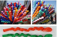 Wholesale pc Popular Spiral Latex Balloons Wedding Birthday Party Christmas Screw Balloon Kids toys G