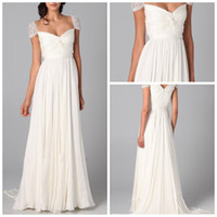 Wholesale 2014 New Chiffon Fabirc Evening Dress Ivory And Silver Gray Color Short Sleeve Name Brand Oscar Prom Dress Formal Party Dress MC039