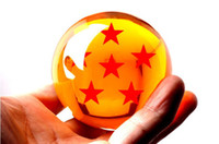 Wholesale 7 CM inch Ample Size Animation DragonBall Stars Crystal Ball Set New In Box Dragon Ball Complete Wood Crafts DragonBall Set Piece