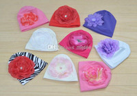 baby hats with big flowers - Hot Sale New Infant Flower Hats Baby Beanie with Big Flowers chapeau Baby Toddler s Hats Girl s Hat baby Caps for T Melee