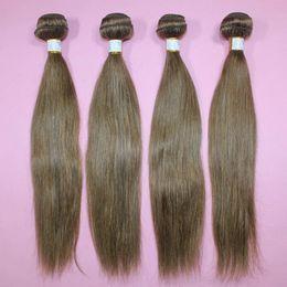 Trama brasileña brasileña del cabello humano de las extensiones el 100% del pelo humano de la armadura # 8 del pelo humano trama 16