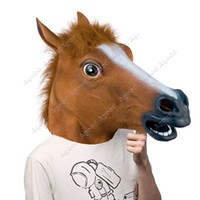 Wholesale Creepy Horse party Mask Head Halloween Costume Theater Prop Novelty Latex Rubber
