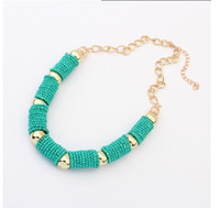 2014 New bead choker wholesale exaggerated statement Cylinde...