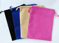 Velvet china direct - Factory direct sales high grade Flannel Velvet Drawstring bag pouch jewelry gift bags Size CM China Post Air Mail