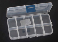 Wholesale Adjustable Compartment Plastic Clear Storage Box for Jewelry Earring Tool Container boxes