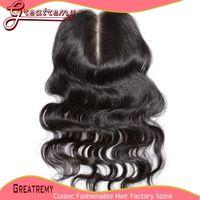 Middle Part Brazilian Lace Closure Hairpieces Hair Extension...