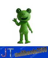 Livraison gratuite grenouille Apparel Mascot Costume Mascot Character Costume Kermit Holiday Party Costume MYY437
