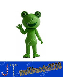 Wholesale Frog Apparel Mascot Costume Adult Character Mascot Costume Kermit Holiday Party Costume MYY437