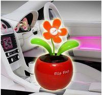 Wholesale Solar Powered Swing Solar Flower Magic Cute plant for Car Plant Swing Solar Toy