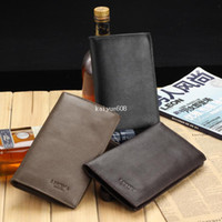 Wholesale 2013 new style fashion deaigner men wallets high quality genuine leather long purse brand name money clips causal clutch