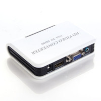 Wholesale 1080P PC VGA to HDMI amp mm Audio HD Video Converter Adapter HDTV DVD PS3 Xbox